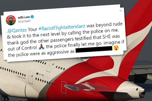 Article image for Qantas flight attendant urged to launch legal action against will.i.am