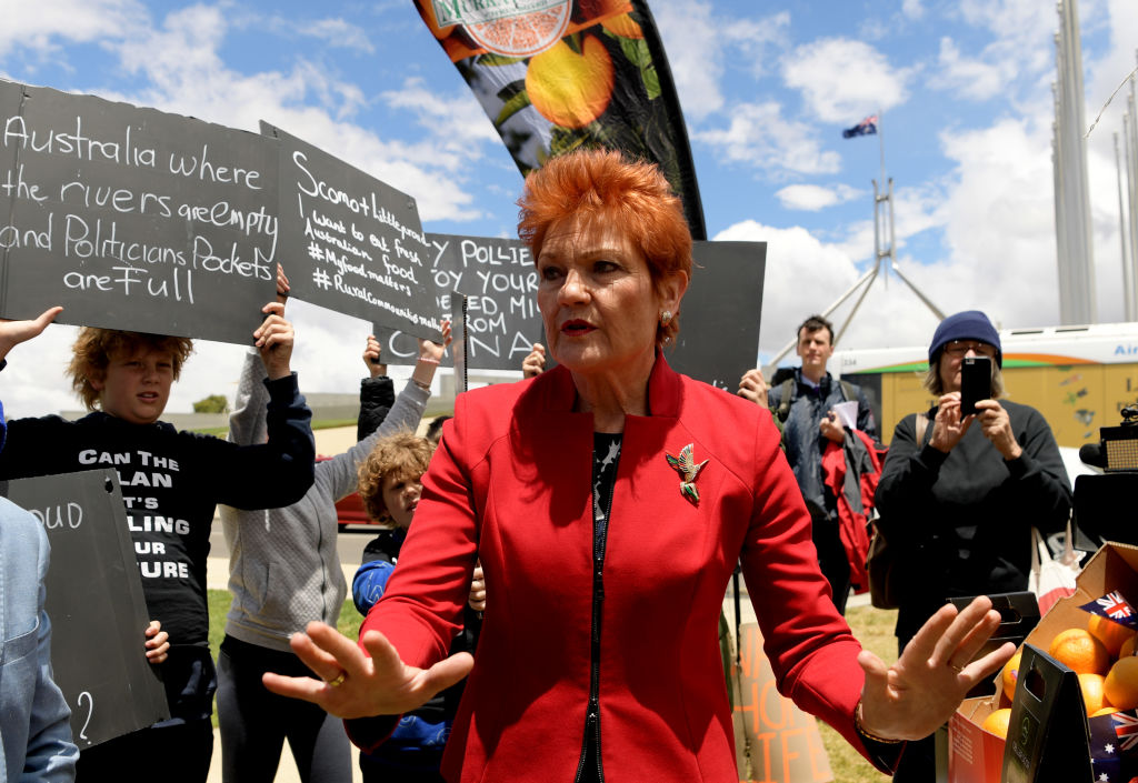 Article image for Pauline Hanson rails against the water wastage destroying farmers' lives