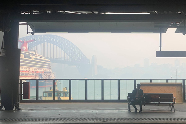 Article image for RFS boss expects fires to burn for months as smoke again blankets Sydney