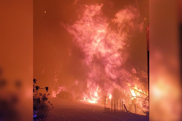 SEE THE PHOTOS | Bushfires rage across NSW