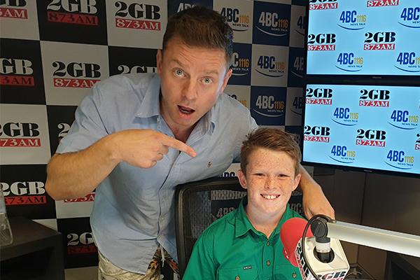 11yo Jack Berne takes over hosting duties from Ben Fordham