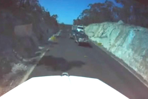 Article image for WATCH | Dashcam shows scary close call on our country roads