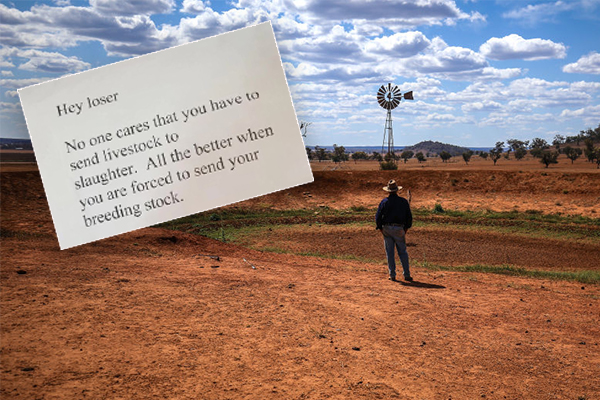 Drought-stricken farmers receive disgusting letters of abuse