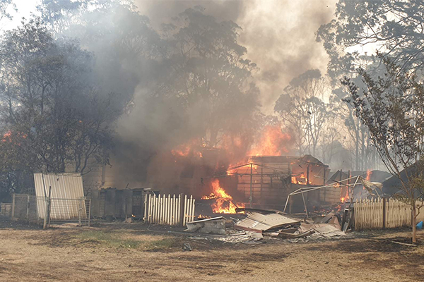 Three firefighters hospitalised by Balmoral blaze
