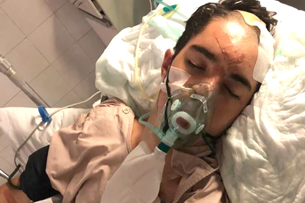 Schoolie critically injured in horror Bali crash brought home