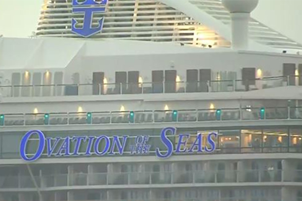 Article image for New Zealand volcano: Ovation of the Seas docks in Sydney