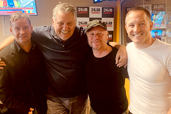 Robertson Brothers egg on Ray Hadley to sing with them