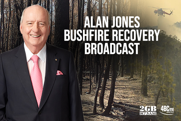 Alan Jones broadcasts from the NSW South Coast
