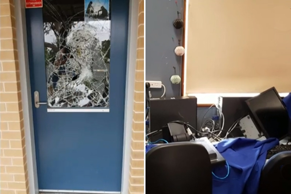 Article image for 'Beyond belief': School saved from bushfires has been trashed by vandals
