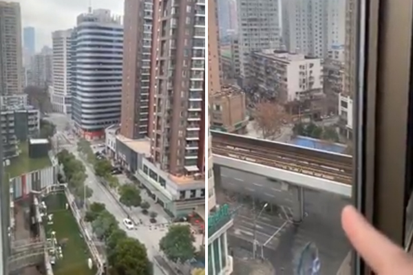 WATCH   Aussie trapped in Wuhan shares shocking footage from the deserted city