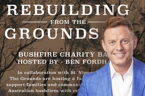 Ben Fordham hosting bushfire charity ball in Sydney
