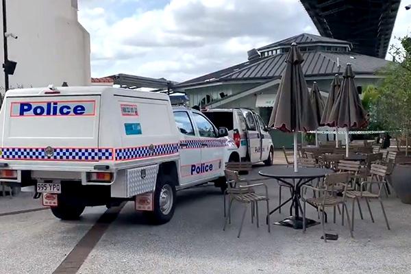 Popular bar shot at from boat on Brisbane River