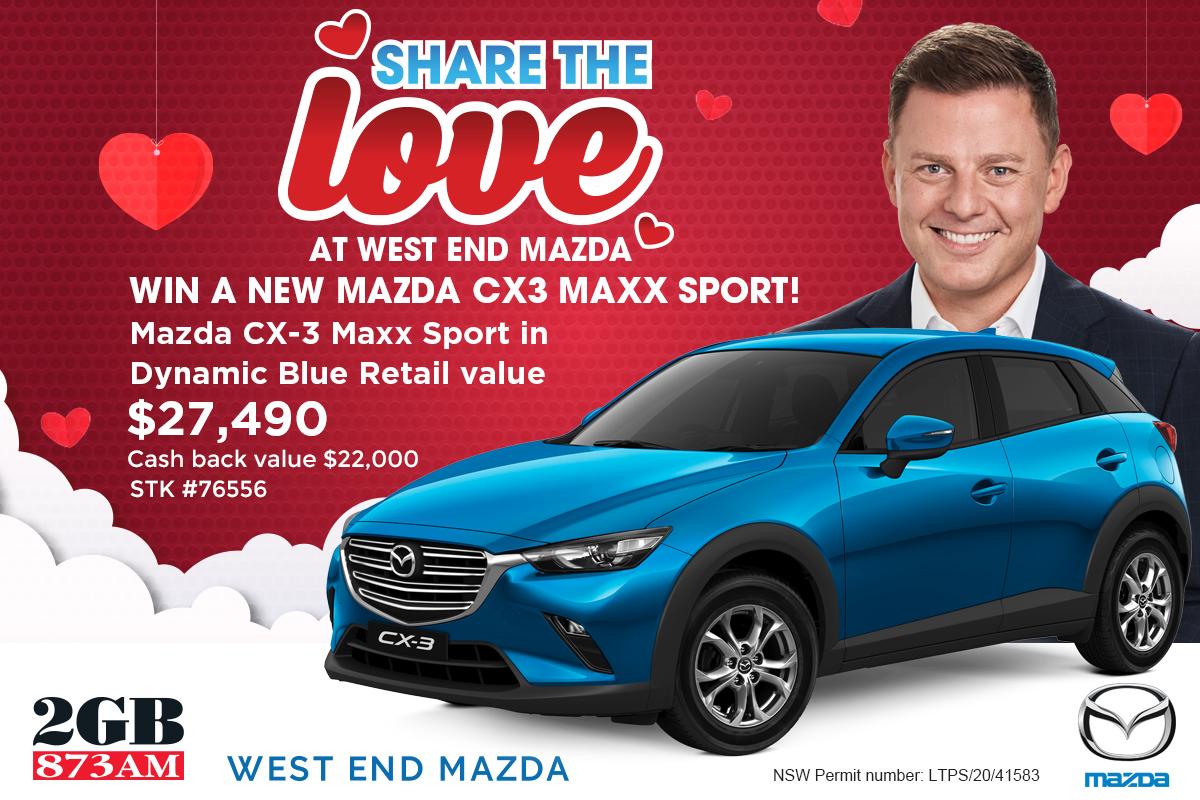 Win a West End Mazda CX3 Maxx Sport