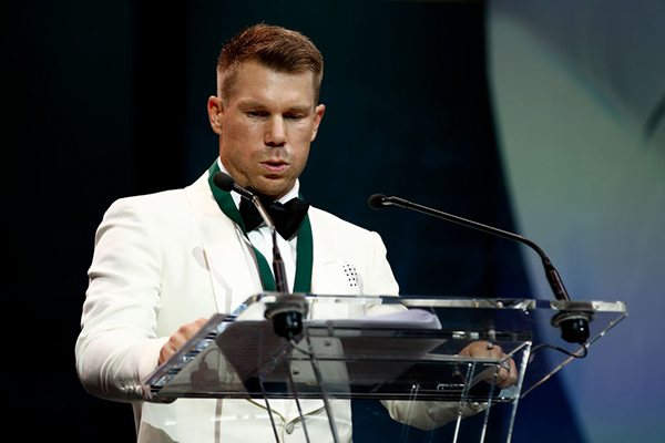 Article image for 'It means a hell of a lot': David Warner reflects on 'shock' Allan Border Medal win