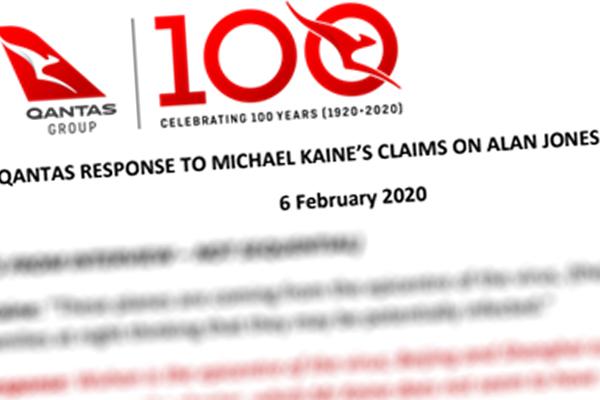 Qantas hits back at union's coronavirus concerns with 'sledgehammer' statement