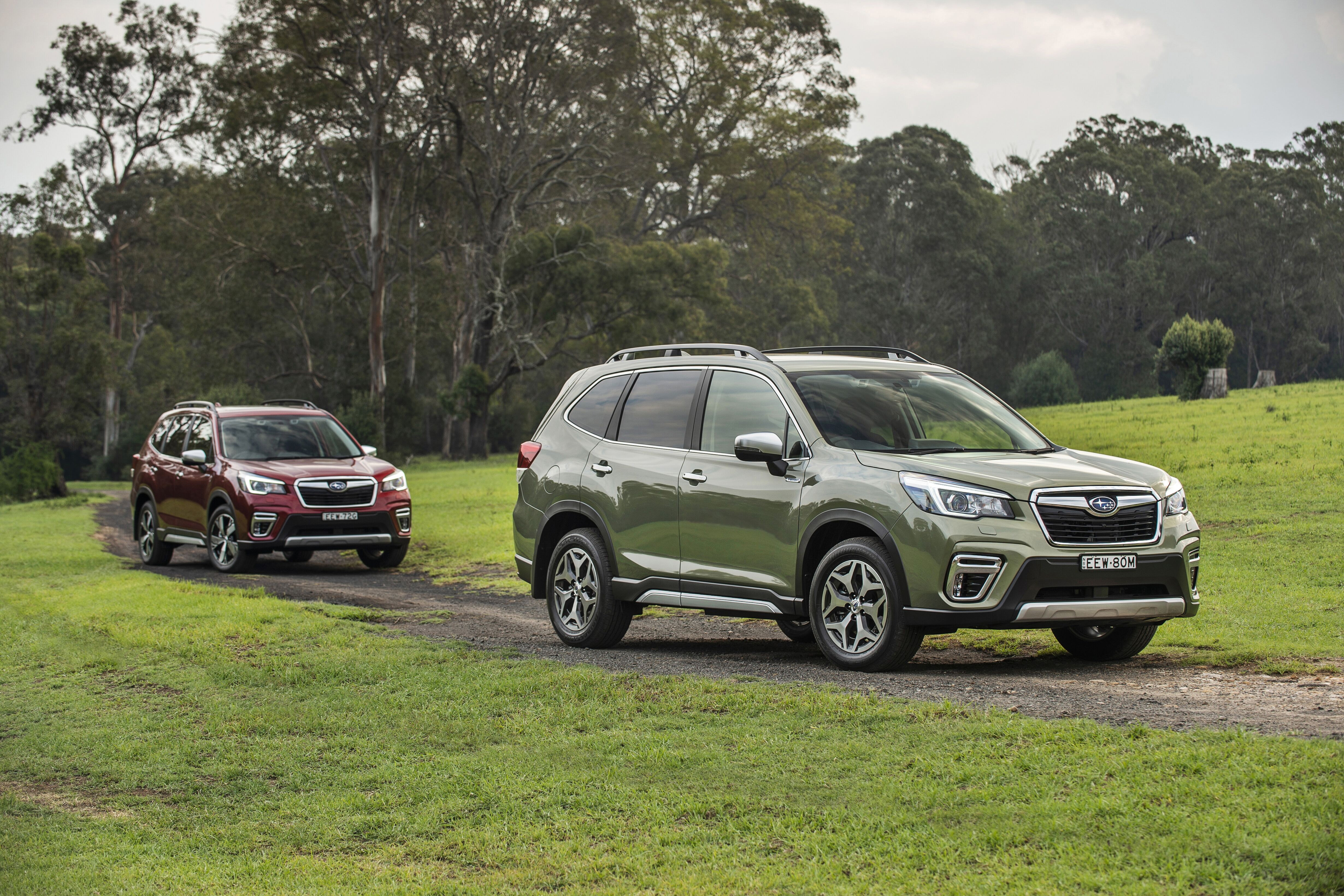 Subaru takes first Hybrid steps with its top-selling XV and Forester SUV's.