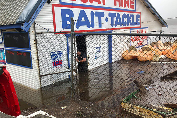 Listener sends in photo of floods on the Central Coast