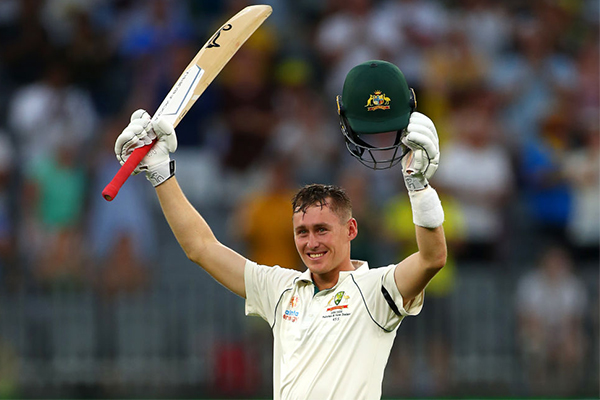 Article image for Marnus Labuschagne's 'truly amazing journey' from a concussion sub to Test award
