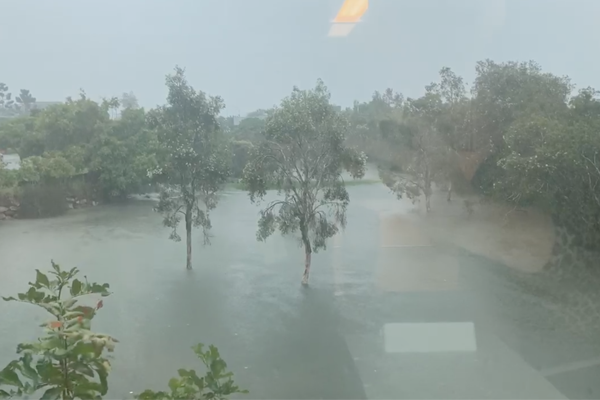 Article image for WATCH   Ray Hadley films flooding at 4BC studios