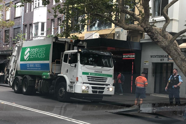 Article image for 21yo killed by garbage truck in CBD hit & run