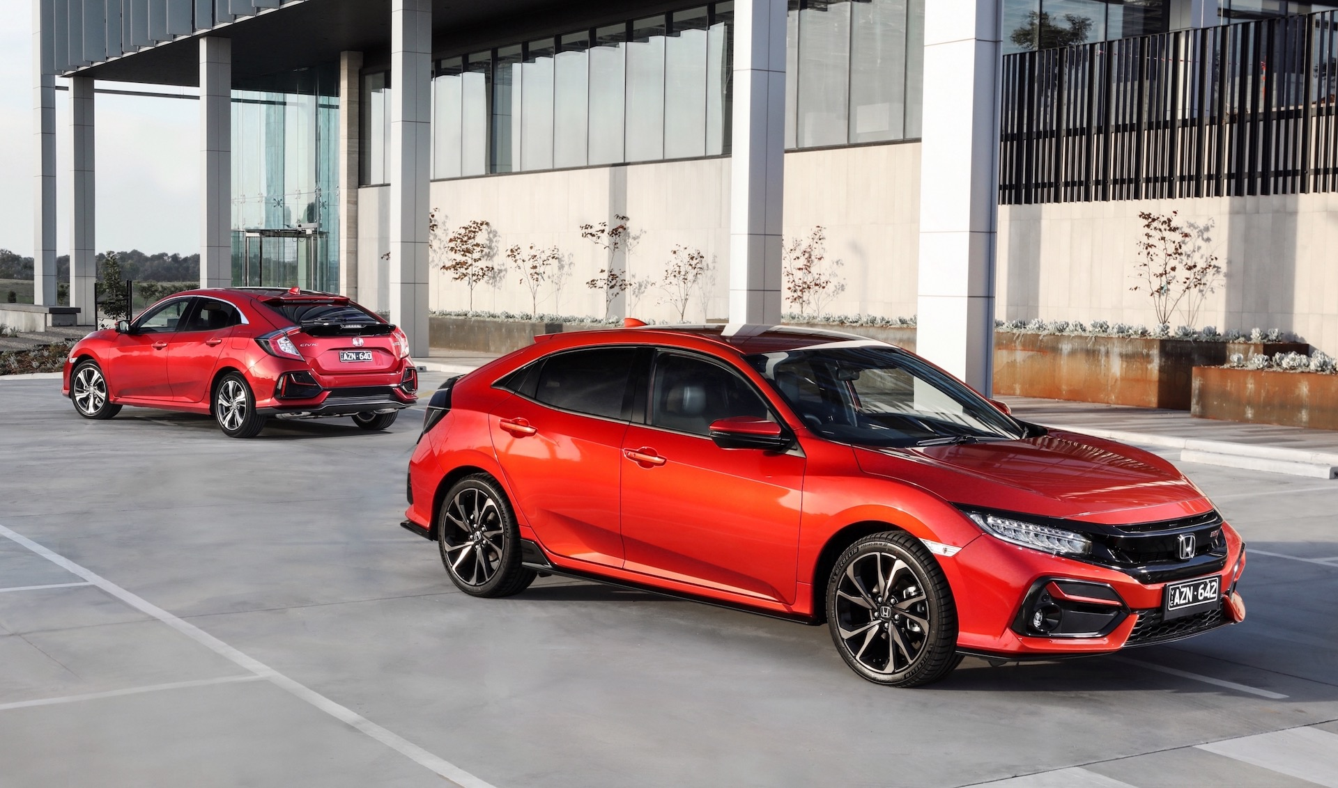 Honda's five-door Civic Hatch gets minor styling changes and new active safety elements
