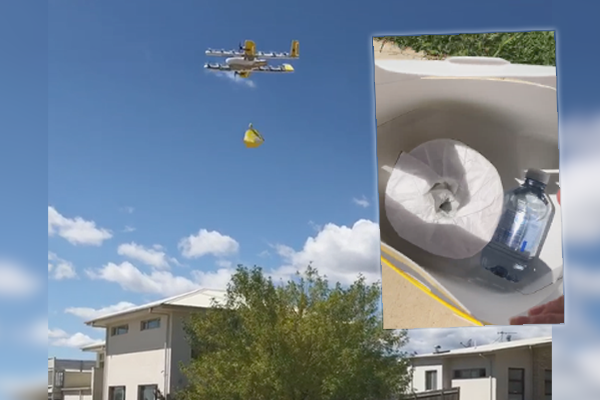 Article image for Drones delivering toilet paper