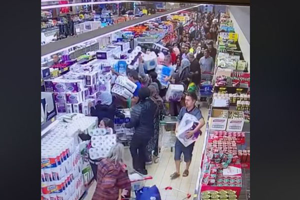 WATCH | The mad dash for toilet paper
