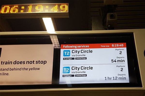 Article image for Commuter chaos as 'work train' derails near Circular Quay