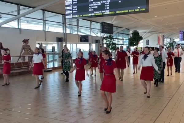 Article image for Virgin Australia staff say their final farewell – through dance