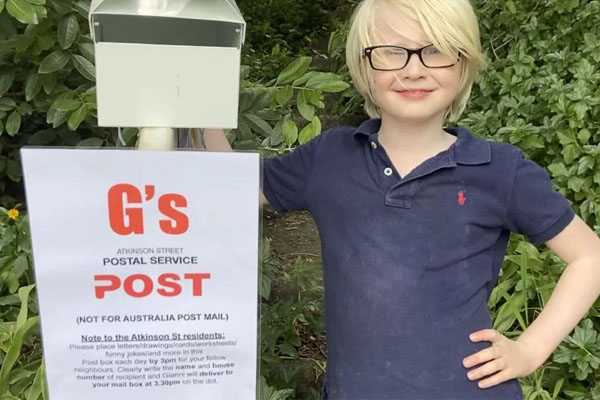 Thoughtful seven-year-old 'hand-delivering happiness' during COVID-19