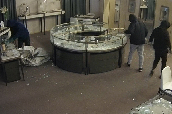 Article image for WATCH   Police release CCTV footage of $600k jewellery heist