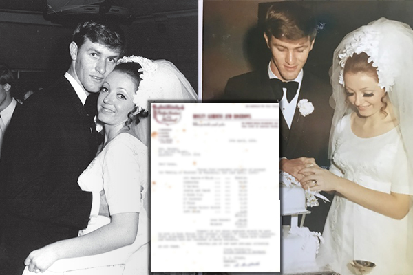 The staggering cost of a wedding 50 years ago
