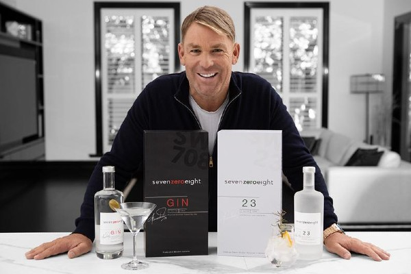 From spin star to gin star: Shane Warne presents award-winning 708 Gin