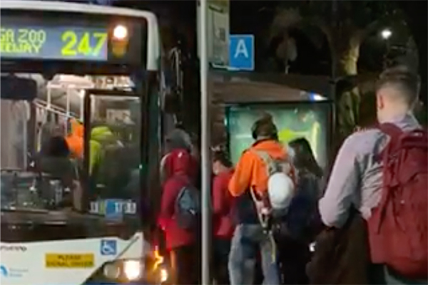Public transport restrictions flouted as people return to work