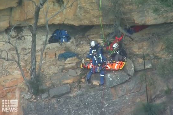 Rock-climber rescued from another freezing night on a cliff