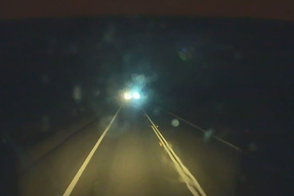 Article image for WATCH   'Scary' moment on NSW highway