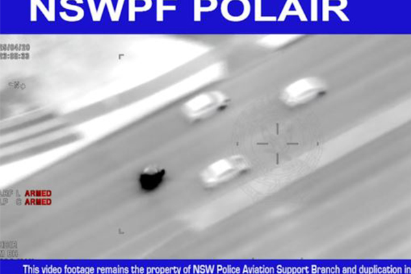Article image for WATCH | Police chase P-plater allegedly clocking 247km/h
