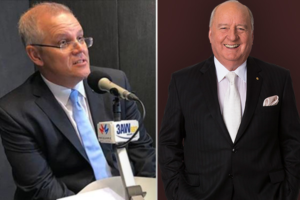 Scott Morrison calls in to pay respects to Alan Jones