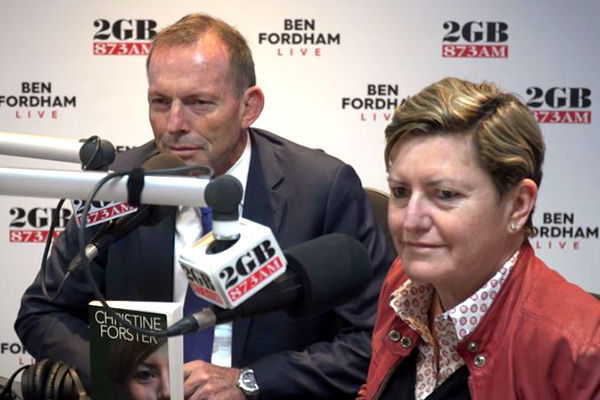 Article image for WATCH | Tony Abbott and Christine Forster open up on their relationship