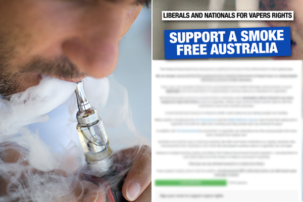 Article image for MPs break ranks to defy government's vaping ban
