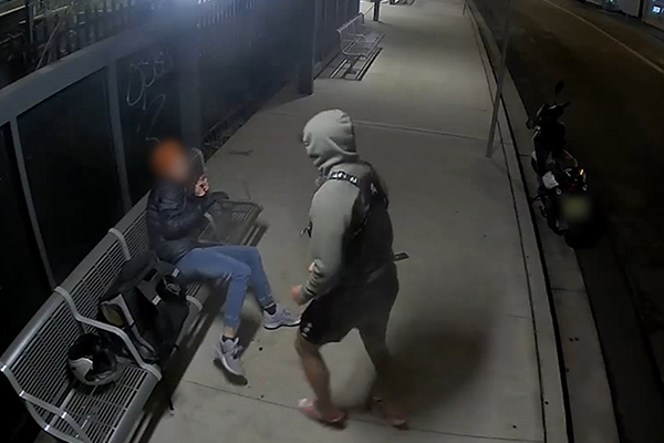 Article image for WATCH | Delivery driver kicked in the head and robbed