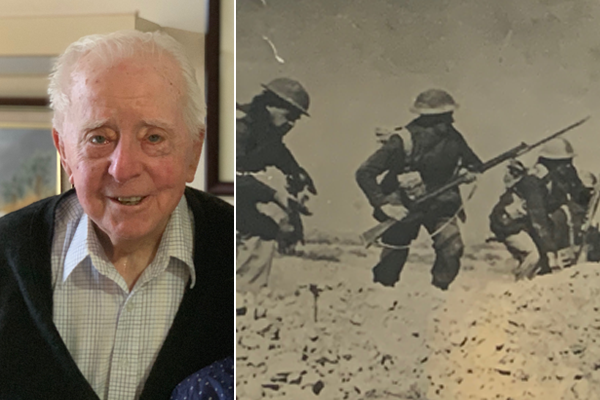 Article image for Siege of Tobruk survivor relives his garrison days on his 100th birthday