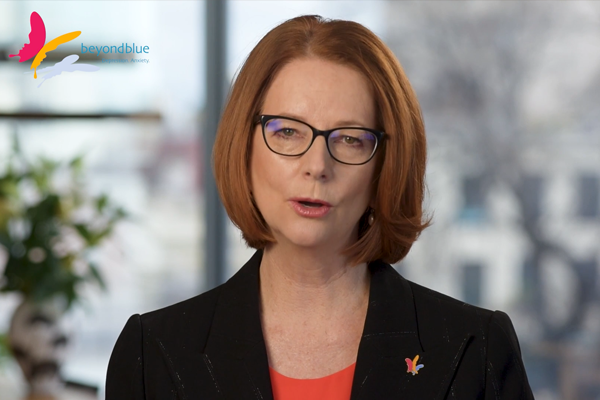 'It's a sign of strength': Julia Gillard urges men to reach out for mental health help