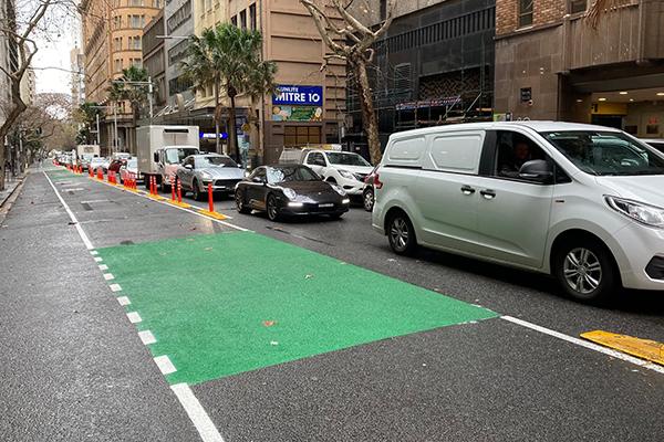 Traffic worsens as City of Sydney creates dedicated bike lane