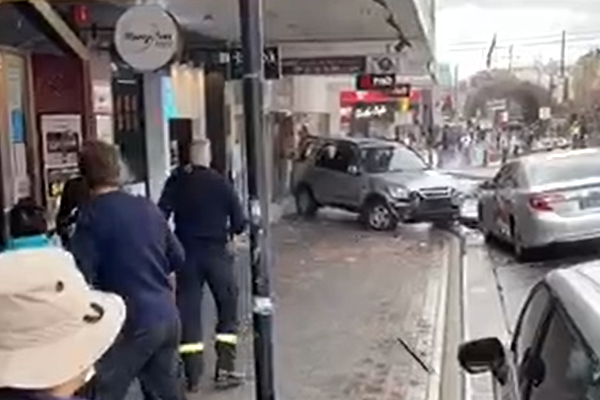 Article image for WATCH | Terrifying moment SUV plows through Eastwood storefront caught on camera