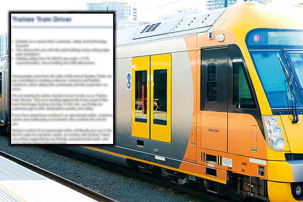 Article image for EXCLUSIVE | Sydney Trains to change 'women only' job ad