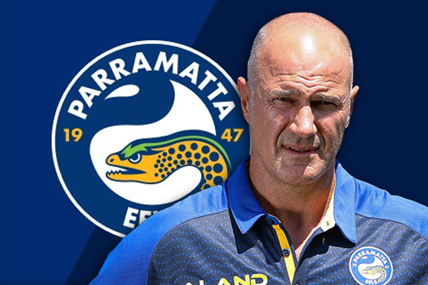 Eels players celebrate re-signing of 'outstanding' coach Brad Arthur