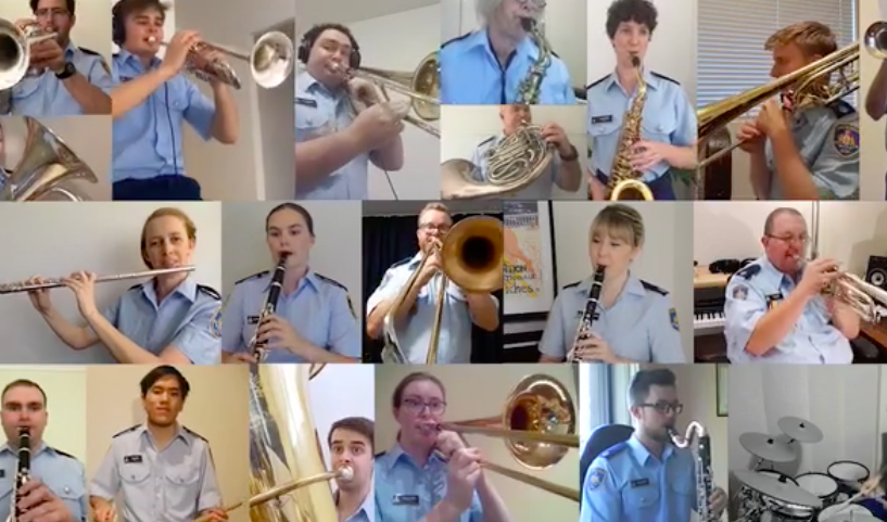 Corrective Services NSW Band's wonderful online rendition of Waltzing Matilda