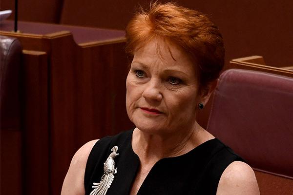 Pauline Hanson's emotional retelling of prison experience