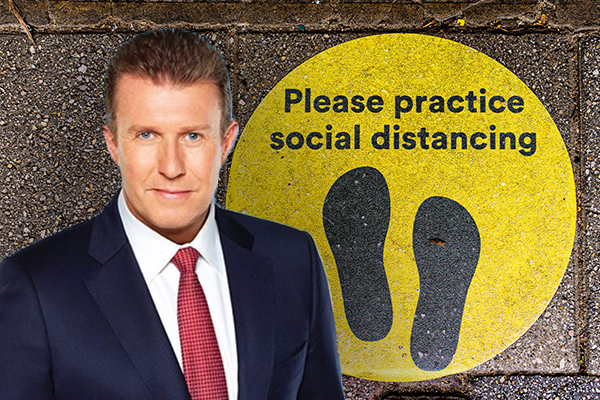 'I felt such a fool!': Peter Overton's hilarious social distancing fail